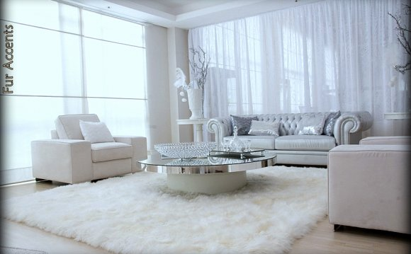 White Faux Fur Rugs Large